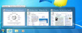 Windows 7 - Windows 7 live thumbnails