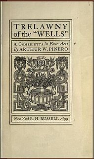 <i>Trelawny of the Wells</i> play written by Arthur Wing Pinero