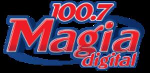 XHH-FM - Image: XHH Magiadigital 100.7 logo