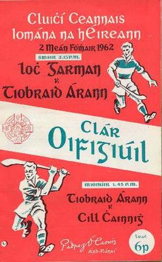 1962 All-Ireland Senior Hurling Championship Final - Image: 1962 All Ireland hurling final programme