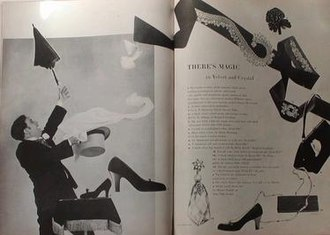 Andrew McKinley - Andrew McKinley as the magician Nika Magadoff from an article in Harper's Bazaar (1950).