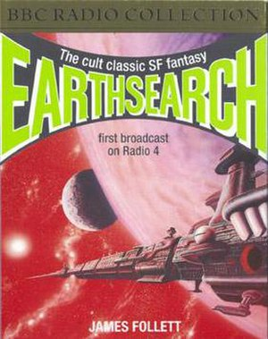 Earthsearch - Cover art for the original 1993 audio cassette release (Original artwork by Andrew Skilleter)