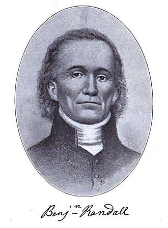 Free Will Baptist - Benjamin Randall (1749–1808) was the founder of the Free Will Baptist movement in New England the late 18th Century.