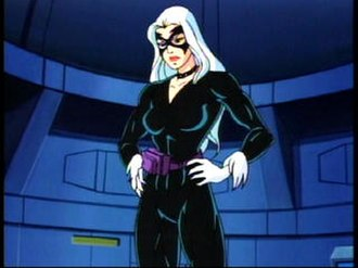 Black Cat (Marvel Comics) - Felicia Hardy (top) and Black Cat (bottom) as seen in Spider-Man: The Animated Series