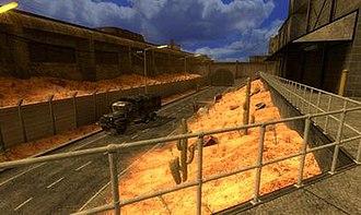 Black Mesa (video game) - The same scene, as seen in a development version of Black Mesa