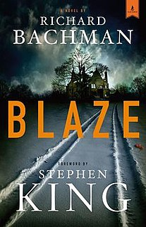 <i>Blaze</i> (novel) novel by Stephen King