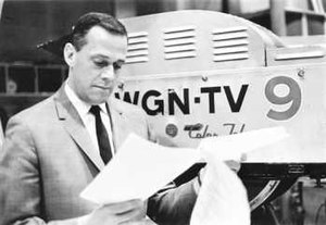 Bob Bell (actor) - Bob Bell on the Bozo's Circus set at WGN-TV before getting into character, circa 1960s.