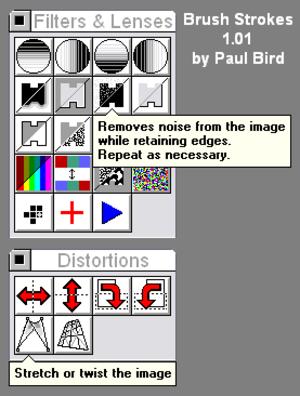 Brush Strokes Image Editor - Image: Brush Strokes Image Editor Filters