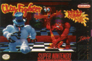 ClayFighter - ClayFighter cover art (North American version)