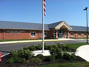 Clayton High School (New Jersey) - Image: Clayton High School, Clayton, NJ main entrance