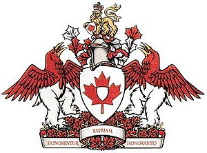 Canadian Heraldic Authority - Image: Coat of arms of the CHA