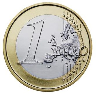 Euro - Image: Common face of one euro coin