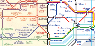 Composite Beck and 2012 tube map