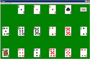 Cruel (solitaire) - Cruel starting position
