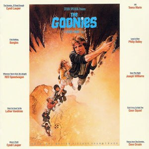 The Goonies: Original Motion Picture Soundtrack - Image: Cyndi Lauper The Goonies CD cover