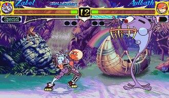 Night Warriors: Darkstalkers' Revenge - A gameplay screenshot of Night Warriors: Darkstalkers' Revenge