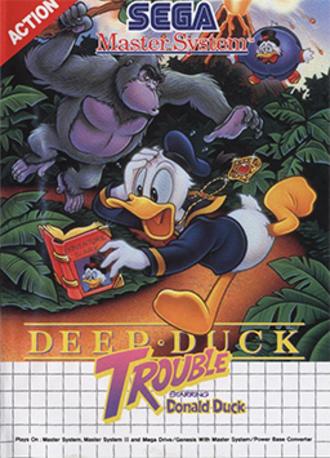Deep Duck Trouble Starring Donald Duck - Cover art