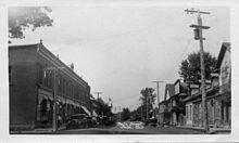 Main street looking north, circa 1930