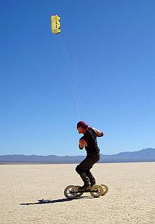 Kite rollerskating