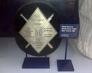 Babe Ruth Award - The 1958 Babe Ruth Award, won by Elston Howard