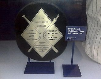Babe Ruth Award - The 1958 Babe Ruth Award, won by Elston Howard