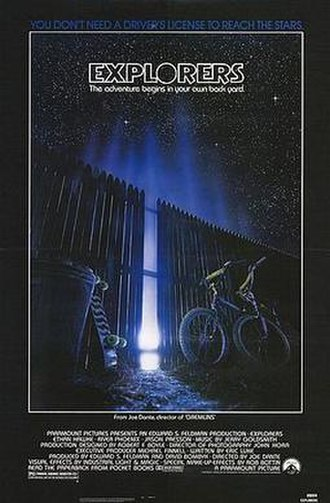 Explorers (film) - Theatrical release poster