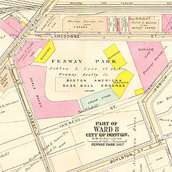 Map showing Fenway Park in 1917.