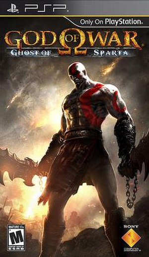 God of War: Ghost of Sparta - North American cover art, featuring Kratos
