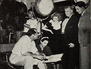 Grand Jury (1936 film) - Rogell (seated), consults with (from left to right standing) Latimer, Stone, and Davis