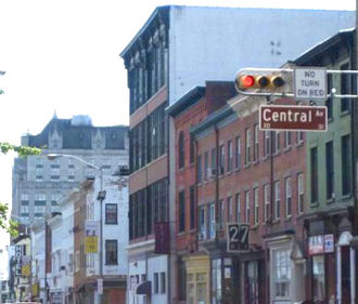 Downtown Newark - Halsey Street near University Heights is lined with galleries and restaurants