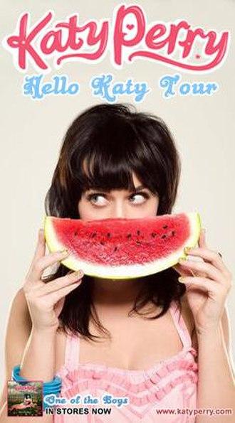 Hello Katy Tour - Promotional poster for the tour