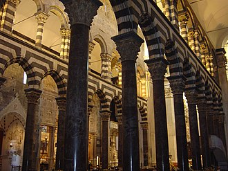 Genoa Cathedral - Interior of the cathedral