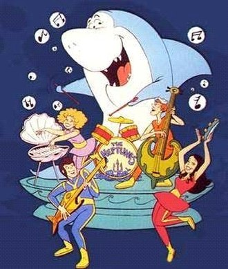 Jabberjaw - Jabberjaw and The Neptunes. Counterclockwise: Jabberjaw (drums), Bubbles (keyboard), Biff (guitar), Shelly (tambourine) and Clamhead (bass).