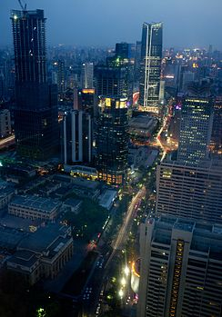 Western part of Jing'An Skyline