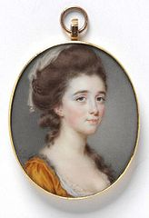 Portrait of Unknown Woman, dated 1780. Victoria & Albert Museum