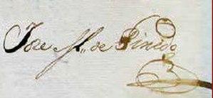 José María Pinedo - Image: Jose Pinedo Signature