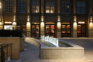 Leopold Square - The water feature in Leopold square.