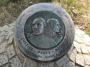 Sheridan Circle - The Letelier Monument, located on Sheridan Circle, is in memory of Orlando Letelier and Ronni Karpen Moffitt
