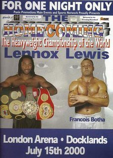 Lennox Lewis vs. Francois Botha Boxing competition