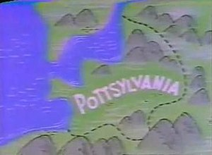 Pottsylvania - Location of Pottsylvania in Eastern Europe