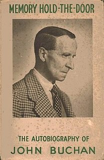 <i>Memory Hold-the-Door</i> autobiography of John Buchan
