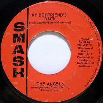 My Boyfriend's Back (song) - Image: My boyfriends back the angels vinyl single 7 inch