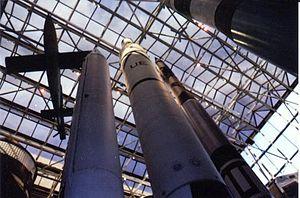 Rocket garden - Image: NASM indoor rocket garden up WL
