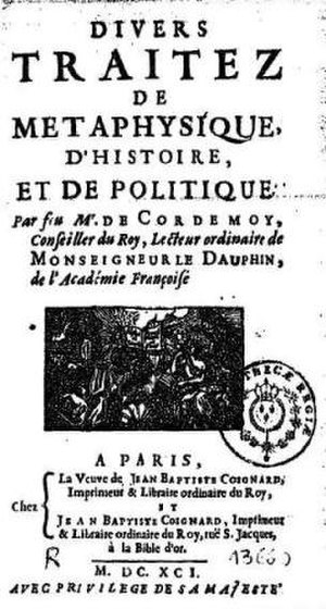 Géraud de Cordemoy - 1691 edition of the political and historical works of Géraud de Cordemoy