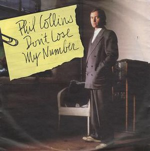 Don't Lose My Number - Image: Phil Collins Dont Lose My Number