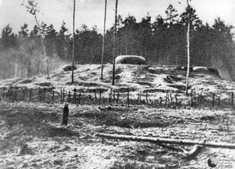 Battle of Mława - Polish bunker built by Narew Independent Operational Group