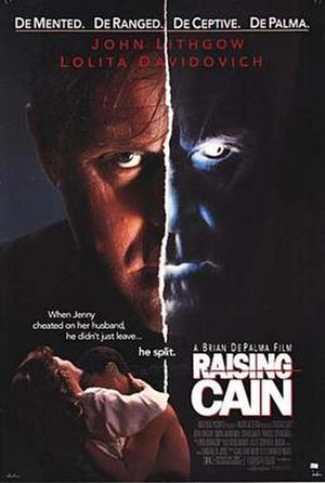 Raising Cain - Theatrical release poster