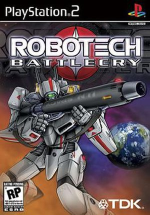Robotech: Battlecry - North American PS2 cover art
