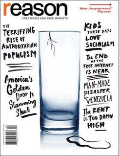 <i>Reason</i> (magazine) American libertarian monthly magazine