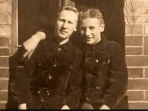 Heinz Heydrich - Reinhard Heydrich (left) and Heinz Heydrich